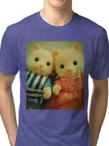 Sylvanian Families ~ Cat Couple Selfie Tri-blend T-Shirt