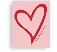 #BeARipple...PEACE Red Heart on Pink Canvas Print