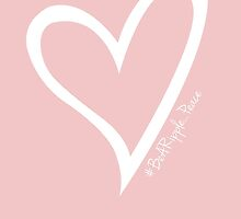 #BeARipple...PEACE White Heart on Pink by BeARipple