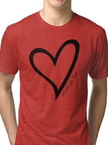 #BeARipple...PEACE Black Heart on Pink Tri-blend T-Shirt