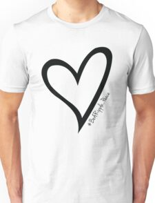 #BeARipple...PEACE Black Heart on Pink Unisex T-Shirt