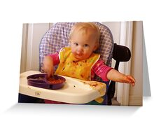 food fight Greeting Card