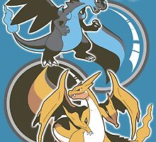 Mega Charizard x y by DaftDesigns