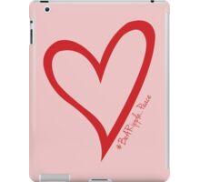 #BeARipple...PEACE Red Heart on Pink iPad Case/Skin