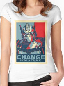 Optimus Prime - Change Women's Fitted Scoop T-Shirt