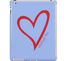 #BeARipple...PEACE Red Heart on Lavendar iPad Case/Skin