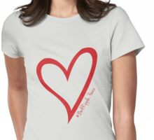 #BeARipple...PEACE Red Heart on Lavendar Womens Fitted T-Shirt
