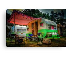 Under the Red Awning Canvas Print