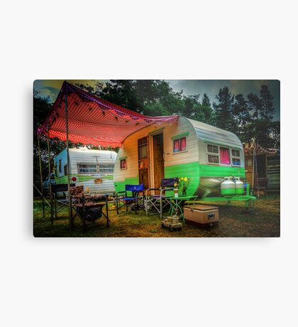 Under the Red Awning Metal Print