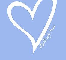 #BeARipple...PEACE White Heart on Lavender by BeARipple