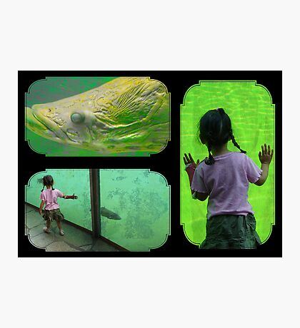 Big fish and the girl... Photographic Print