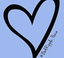 #BeARipple...PEACE Black Heart on Lavender by BeARipple