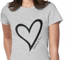#BeARipple...PEACE Black Heart on Lavender Womens Fitted T-Shirt