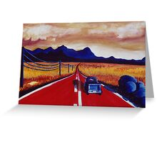 Red Road Greeting Card