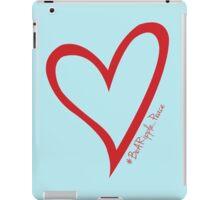 #BeARipple...PEACE Red Heart on Blue iPad Case/Skin