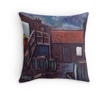 Nancy's yard Throw Pillow