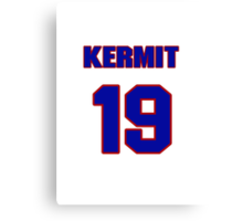 National baseball player Kermit Wahl jersey 19 Canvas Print