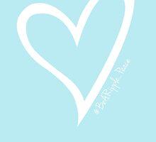 #BeARipple...PEACE White Heart on Blue by BeARipple