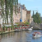 On the Dyver Canal in Bruges by Graeme  Hyde