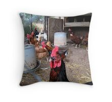 One tough... rooster! Throw Pillow