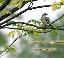You're in my thoughts and prayers . . . by Bonnie T.  Barry