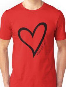 #BeARipple...LOVE Black Heart on Red Unisex T-Shirt