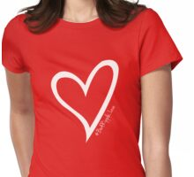 #BeARipple...LOVE White Heart on Red Womens Fitted T-Shirt