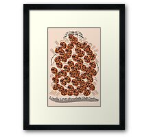 I Love Chocolate Chip Cookies Framed Print