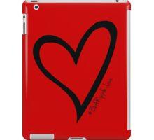 #BeARipple...LOVE Black Heart on Red iPad Case/Skin