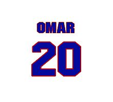 National baseball player Omar Infante jersey 20 Photographic Print