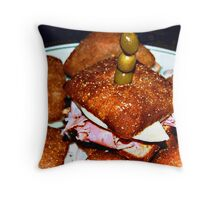 Bagel Bread Mini Bites Throw Pillow