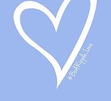 #BeARipple...LOVE White Heart on Lavender by BeARipple