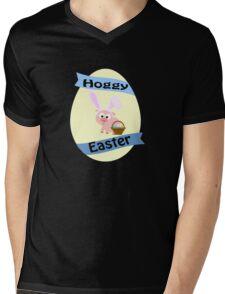 Hoggy Easter!  Mens V-Neck T-Shirt