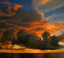Sunset on the Northwest shelf by Peter Hall