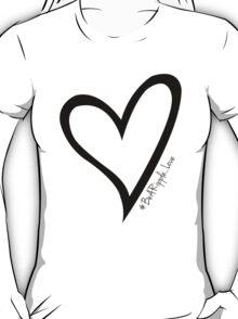 #BeARipple...LOVE Black Heart on Pink T-Shirt