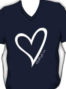 #BeARipple...LOVE White Heart on Pink T-Shirt