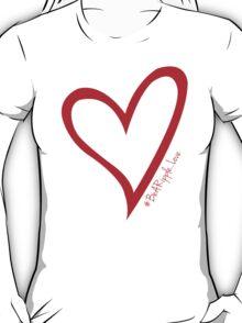 #BeARipple...LOVE Red Heart on Pink T-Shirt
