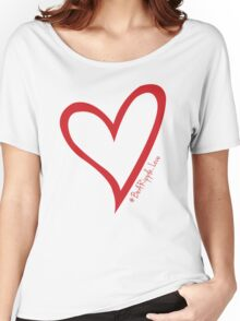 #BeARipple...LOVE Red Heart on Pink Women's Relaxed Fit T-Shirt