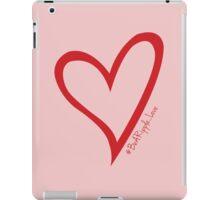 #BeARipple...LOVE Red Heart on Pink iPad Case/Skin
