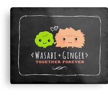 Wasabi and Ginger Together Forever Metal Print