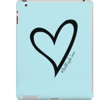 #BeARipple...LOVE Black Heart on Blue iPad Case/Skin