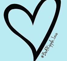 #BeARipple...LOVE Black Heart on Blue by BeARipple