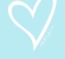 #BeARipple...LOVE White Heart on Blue by BeARipple