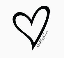 #BeARipple...LOVE Black Heart on White Womens Fitted T-Shirt