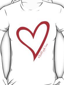 #BeARipple...LOVE Red Heart on White T-Shirt