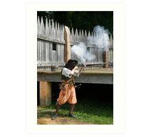 Musket Fire! Art Print