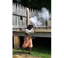 Musket Fire! Photographic Print