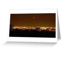 Last Night's Moon..... on a hot AUGUST NIGHT!!! Greeting Card