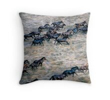 THE BRUMBY RUN Throw Pillow