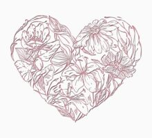 Hearts & flowers in pink Kids Clothes